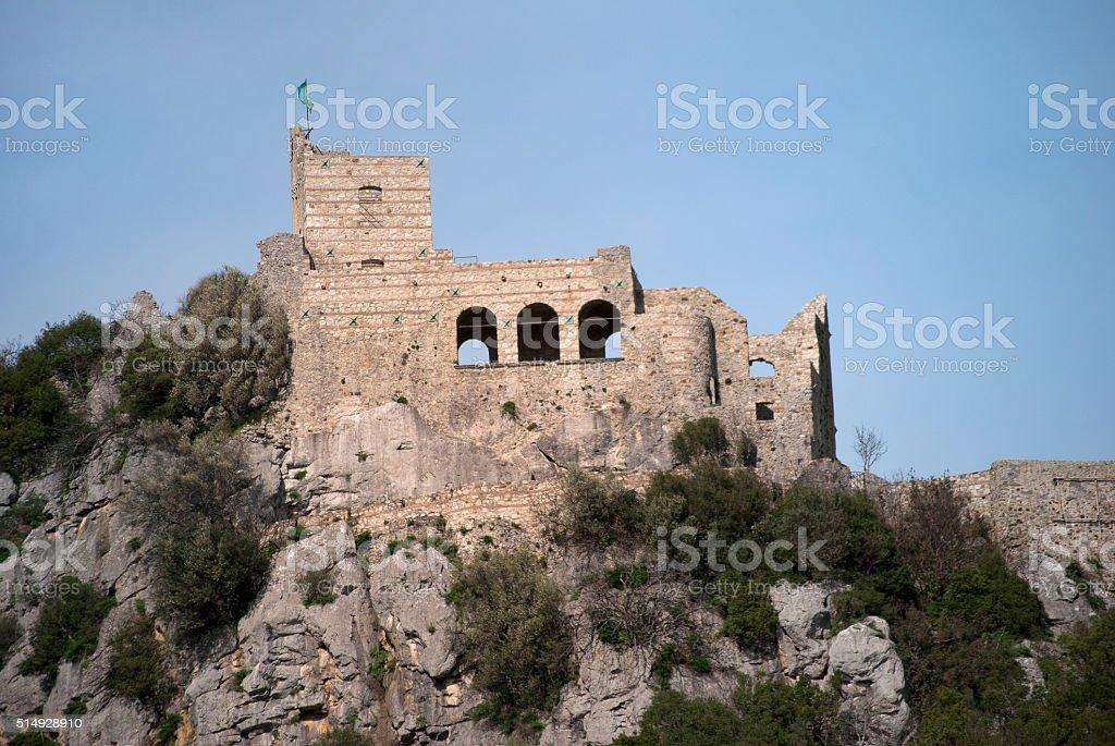 Medieval castle Quaglietta, Italy stock photo