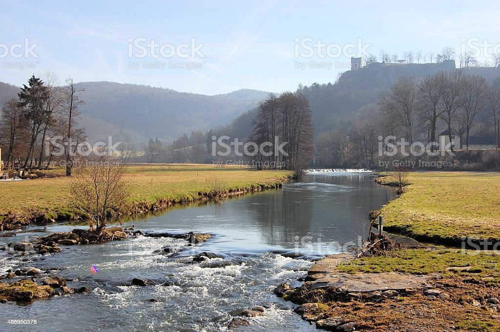 Medieval Castle Ruin Neideck, Germany stock photo
