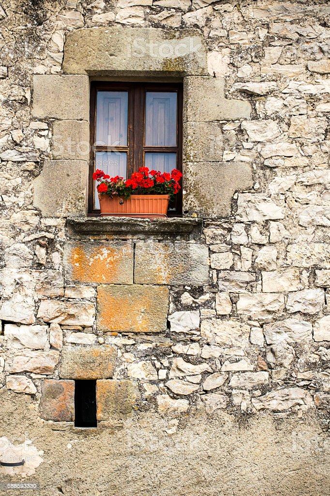 Medieval Catalan house stock photo