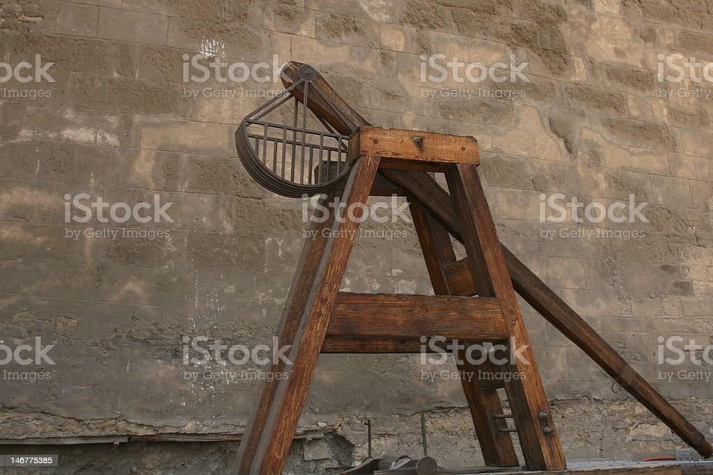 Medieval Catapult stock photo