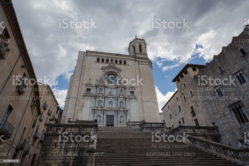 Medieval cathedral facade stock photo