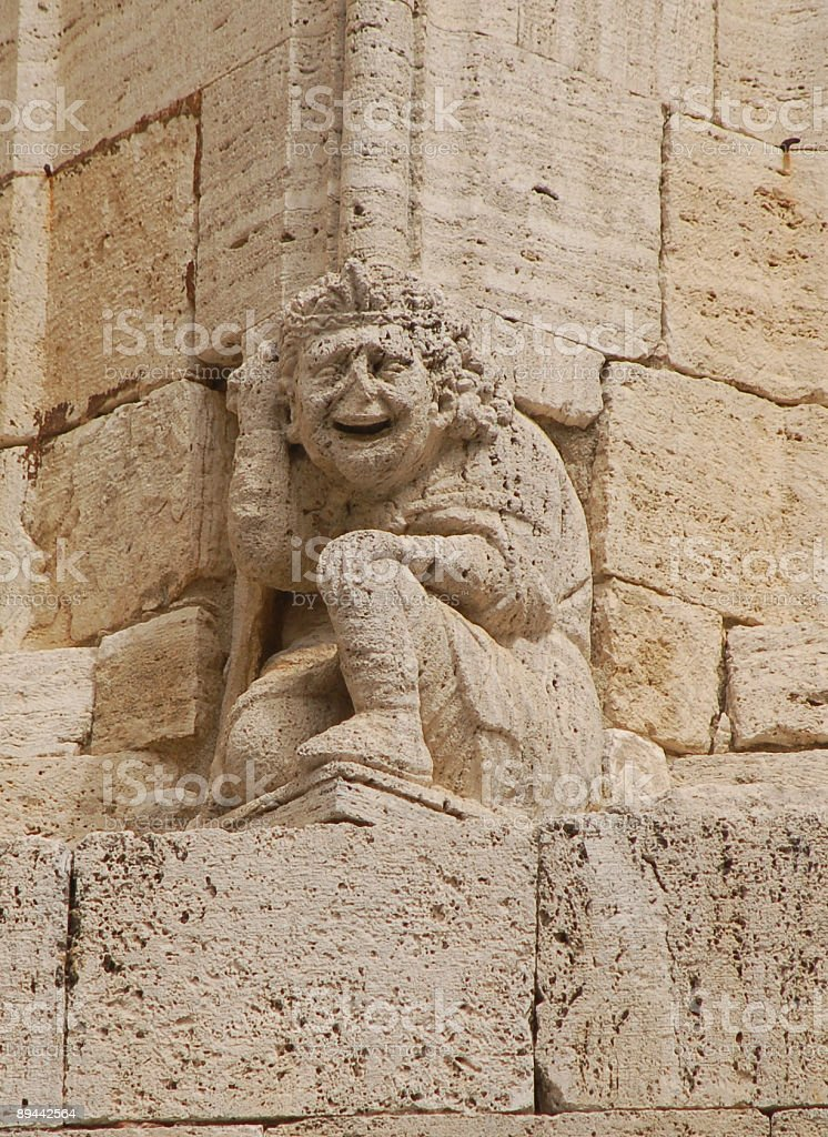 Medieval Cathedral sculpture royalty-free stock photo