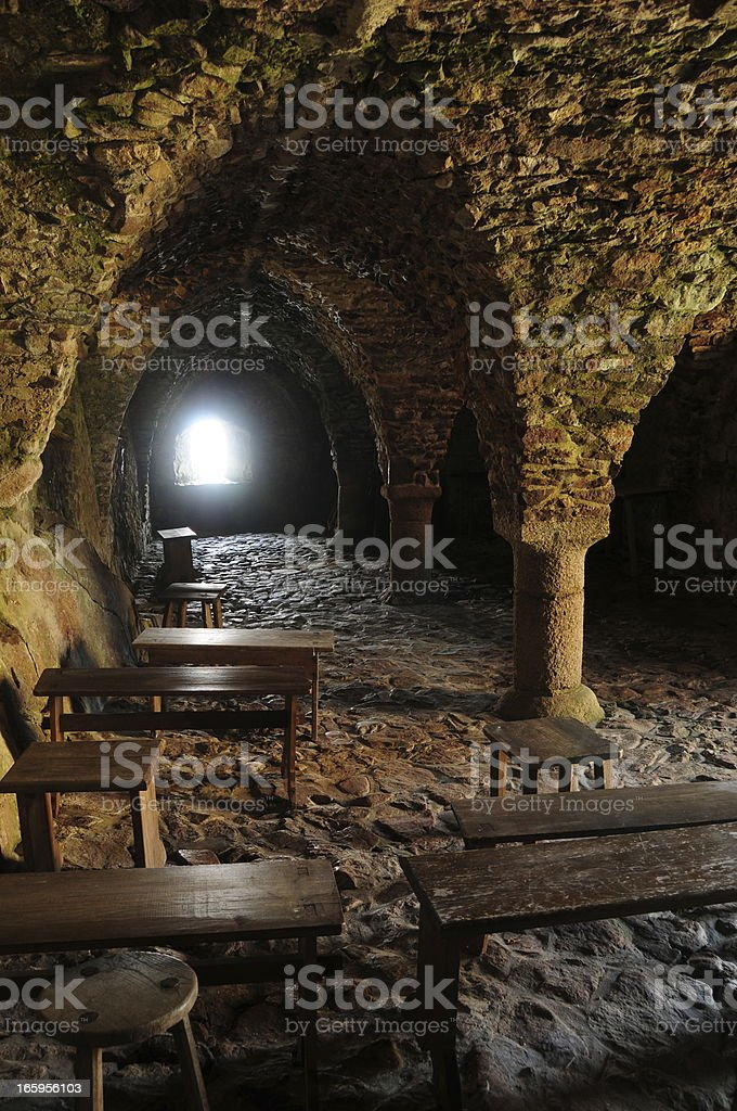 Medieval chapel, Jersey. royalty-free stock photo