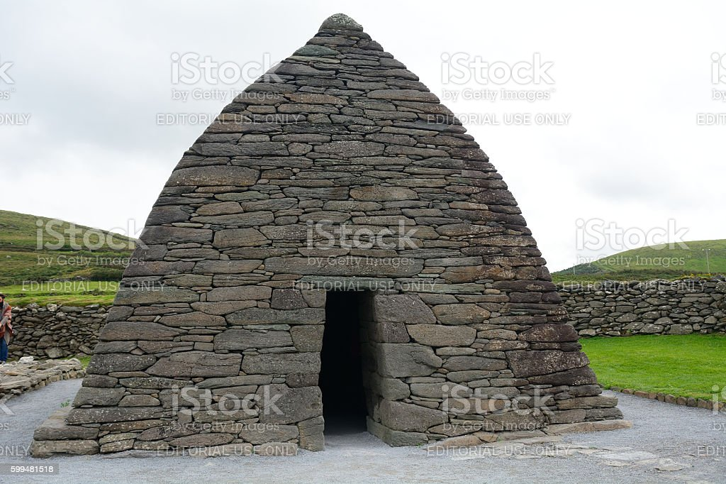 Medieval christian oratory, Gallarus, Ireland stock photo