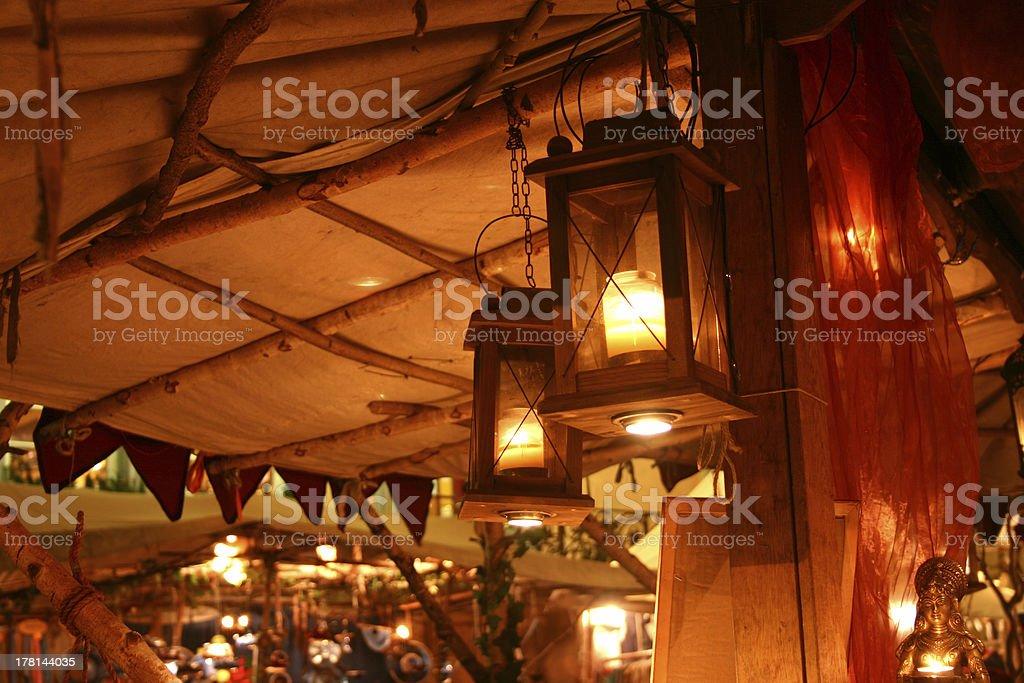 Medieval christmas market royalty-free stock photo