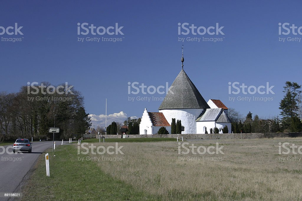 Medieval church, Bornholm royalty-free stock photo