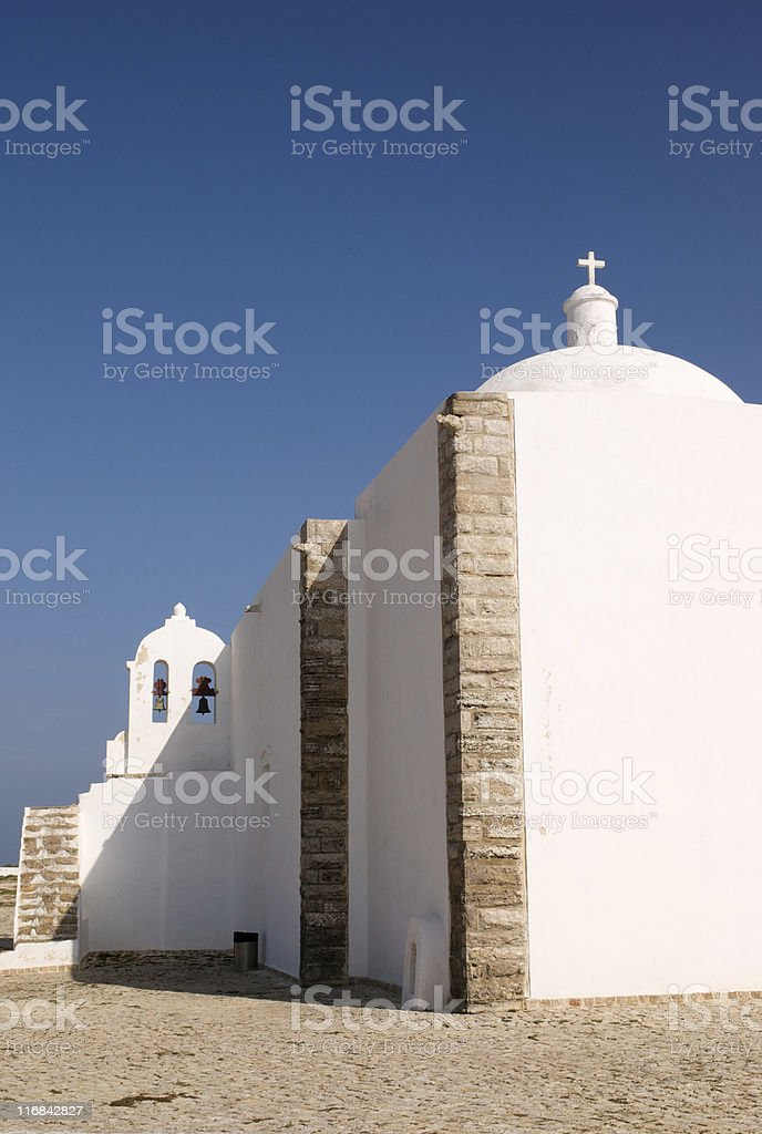 Medieval church in Sagres, Portugal royalty-free stock photo