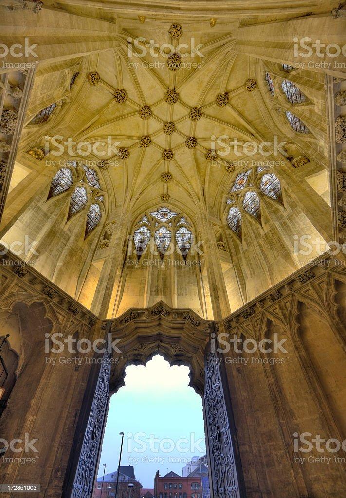Medieval Church Porch royalty-free stock photo