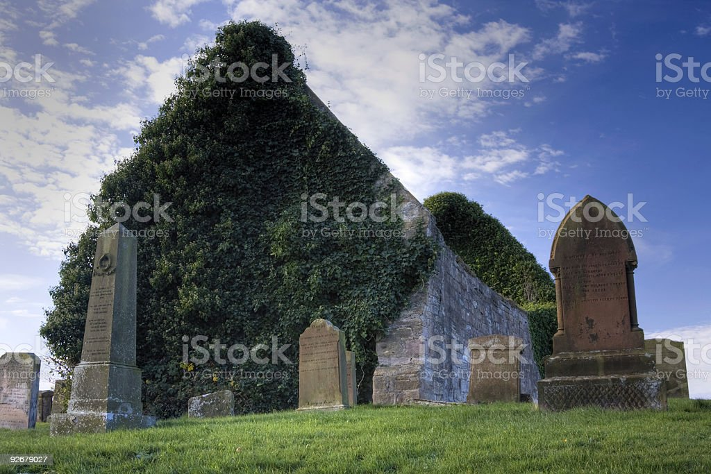 Medieval Church, Prestwick royalty-free stock photo