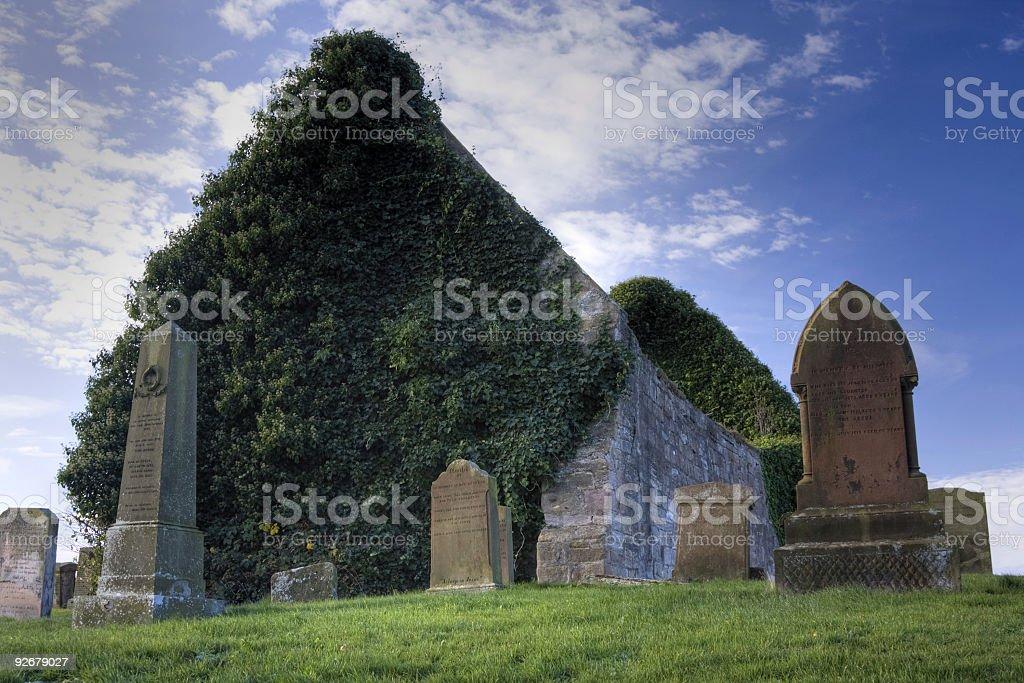 Medieval Church, Prestwick stock photo