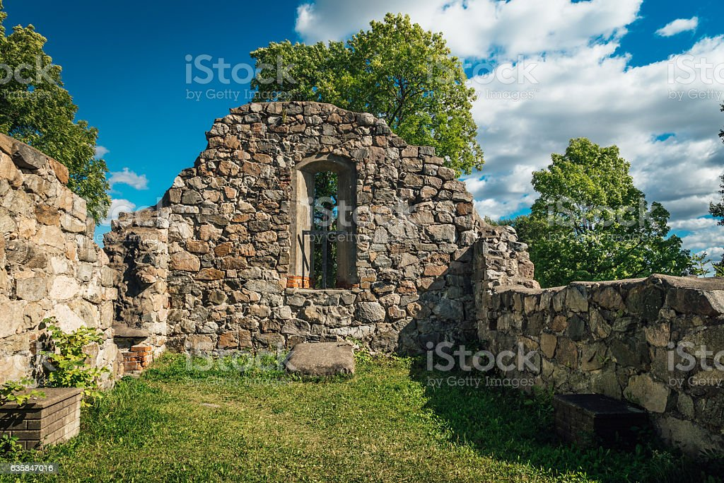 Medieval Church ruin stock photo