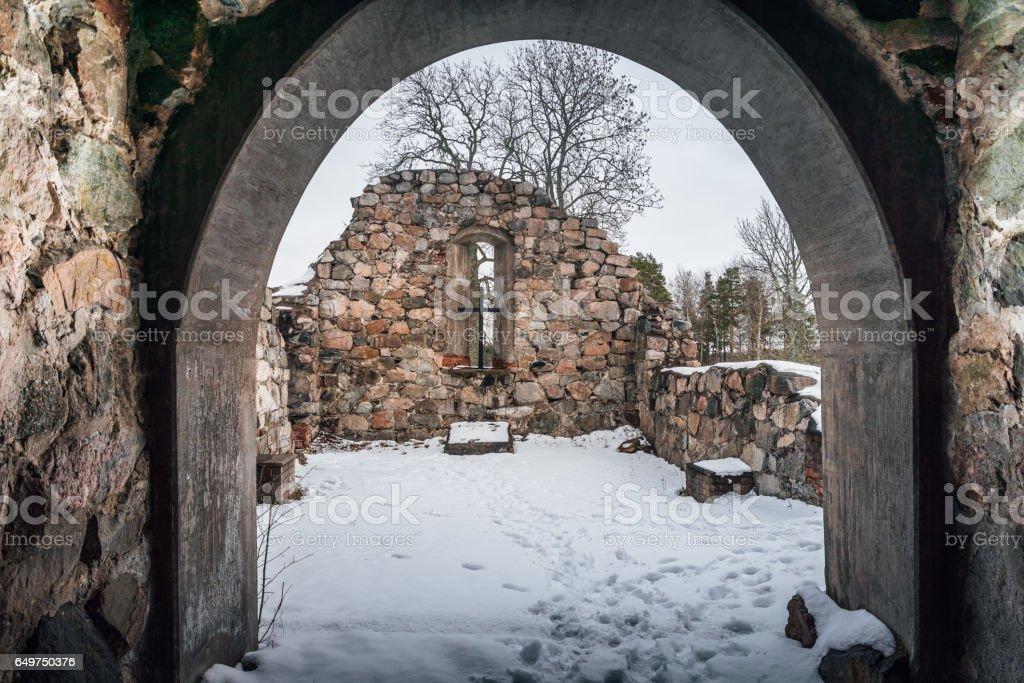 Medieval Church ruin stock photo