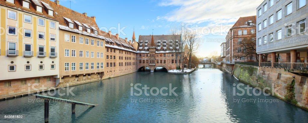 Medieval city Nuremberg, Germany stock photo