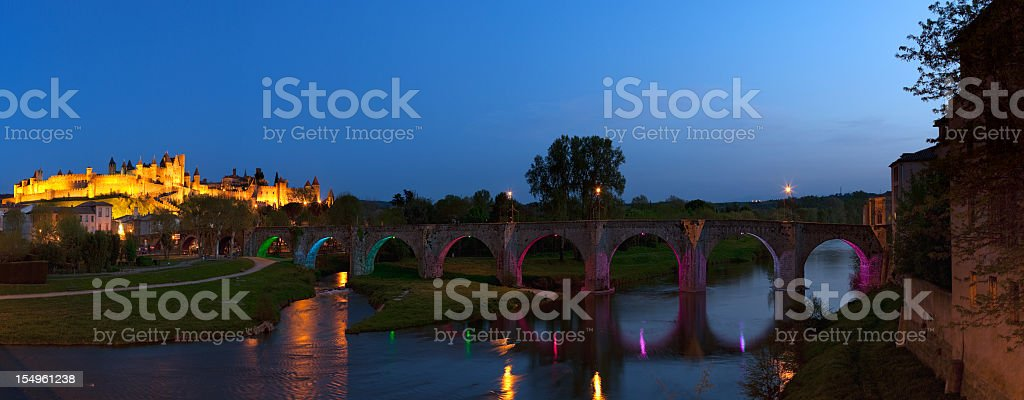 Medieval city of Carcassonne stock photo