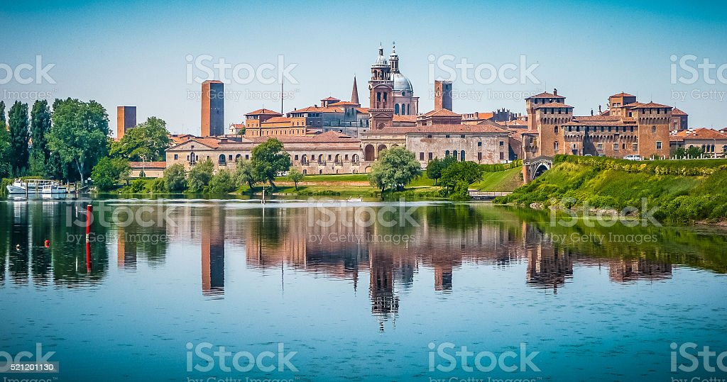 Medieval city of Mantua in Lombardy, Italy stock photo
