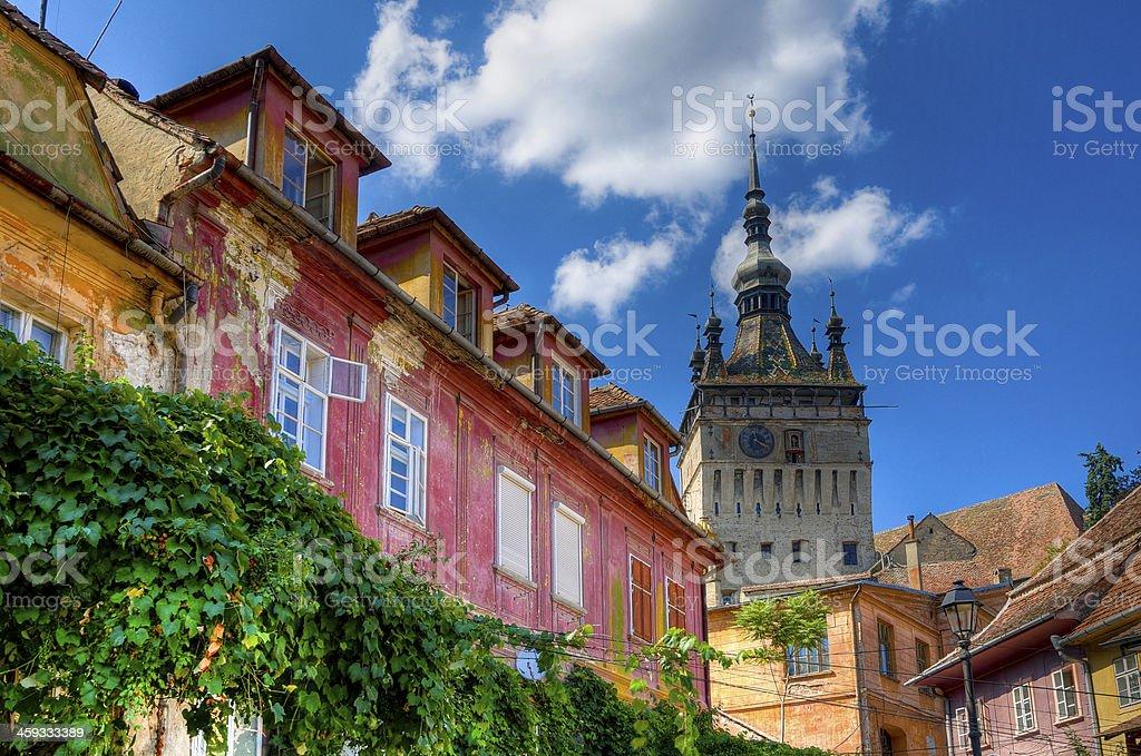 medieval city of sighisoara stock photo