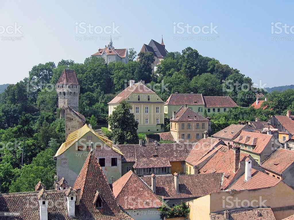 Medieval city - Sighisoara, Romania stock photo