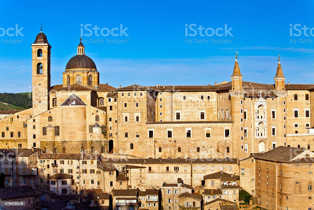 Medieval city Urbino in Italy stock photo