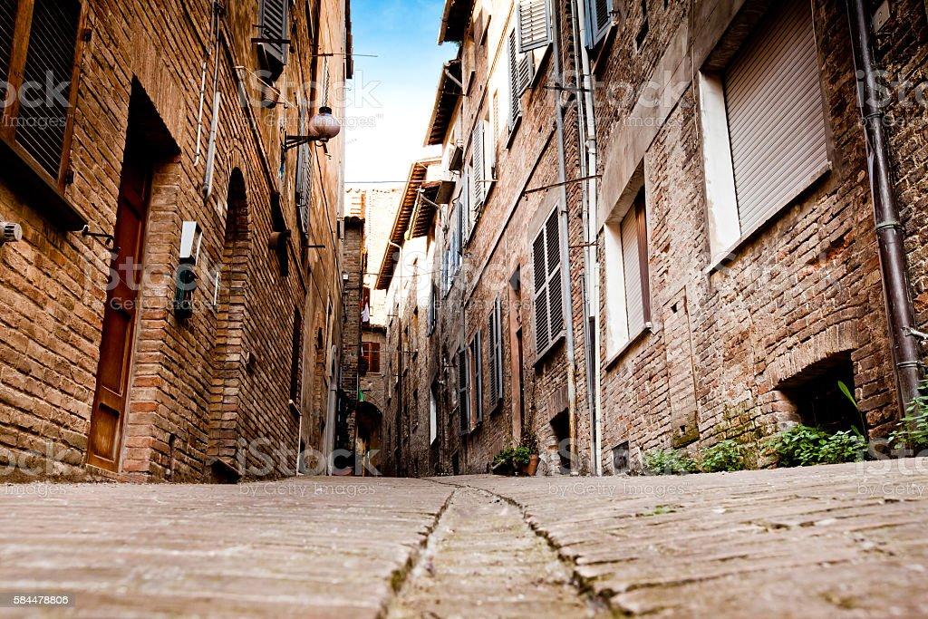 Medieval city Urbino in Italy stock photo