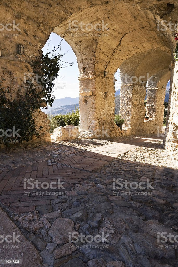 Medieval Colonnade. Color Image royalty-free stock photo