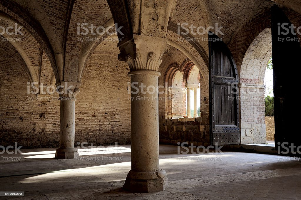 Medieval construction stock photo