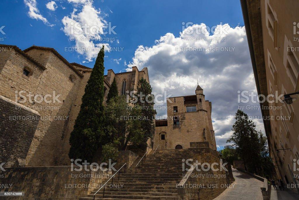 Medieval Convent Girona stock photo