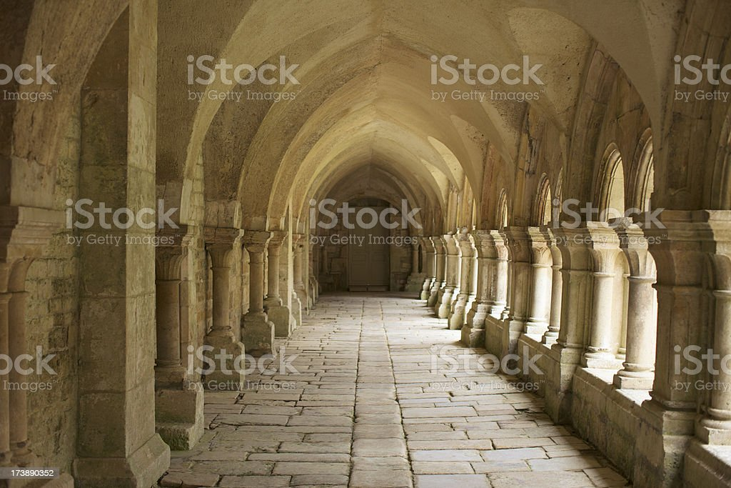 Medieval corridor stock photo