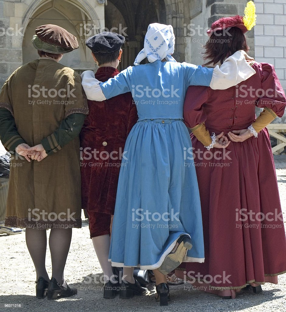 Costumi medievali foto stock royalty-free