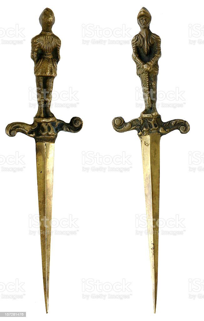 Medieval Daggers stock photo