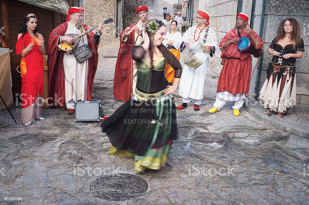 Medieval Dancing stock photo