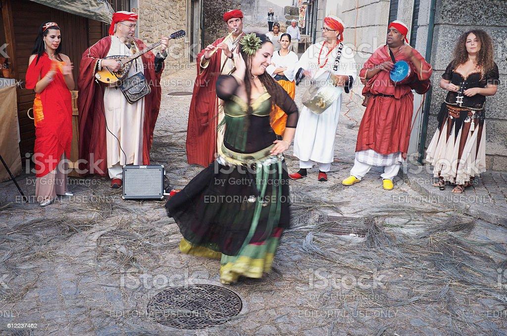Medieval Dancing stock photo