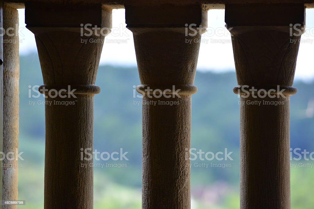 Medieval Decorative Columns stock photo