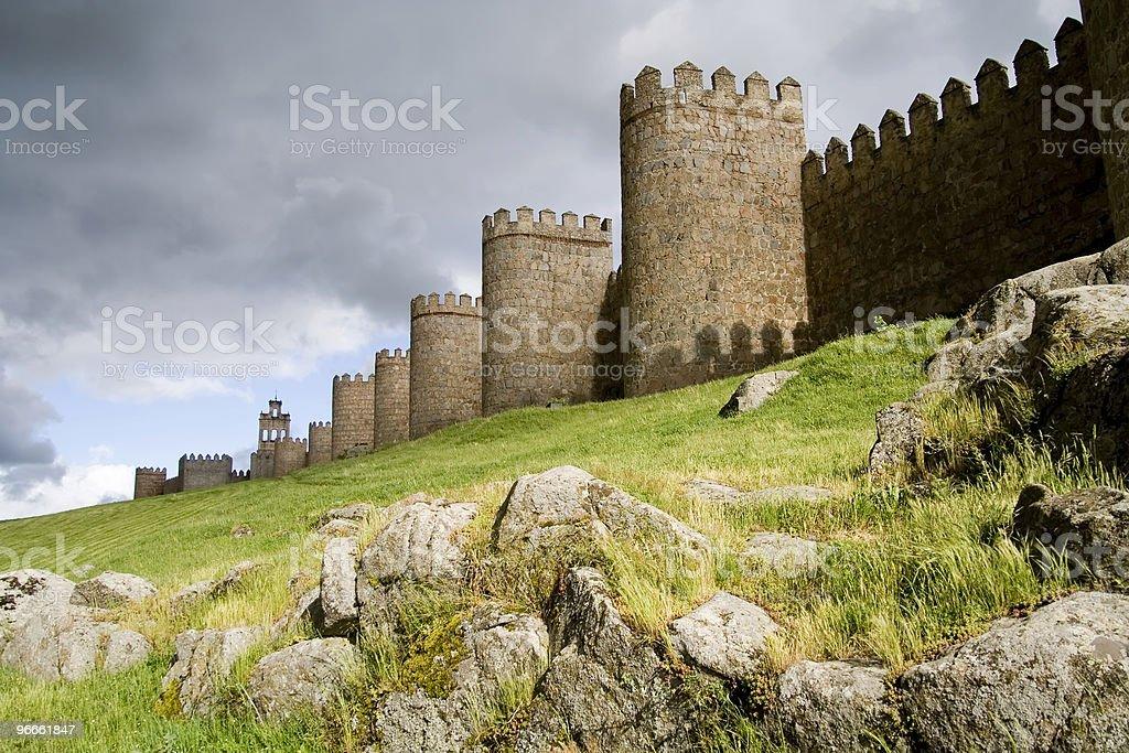 Medieval Defensive Walls stock photo