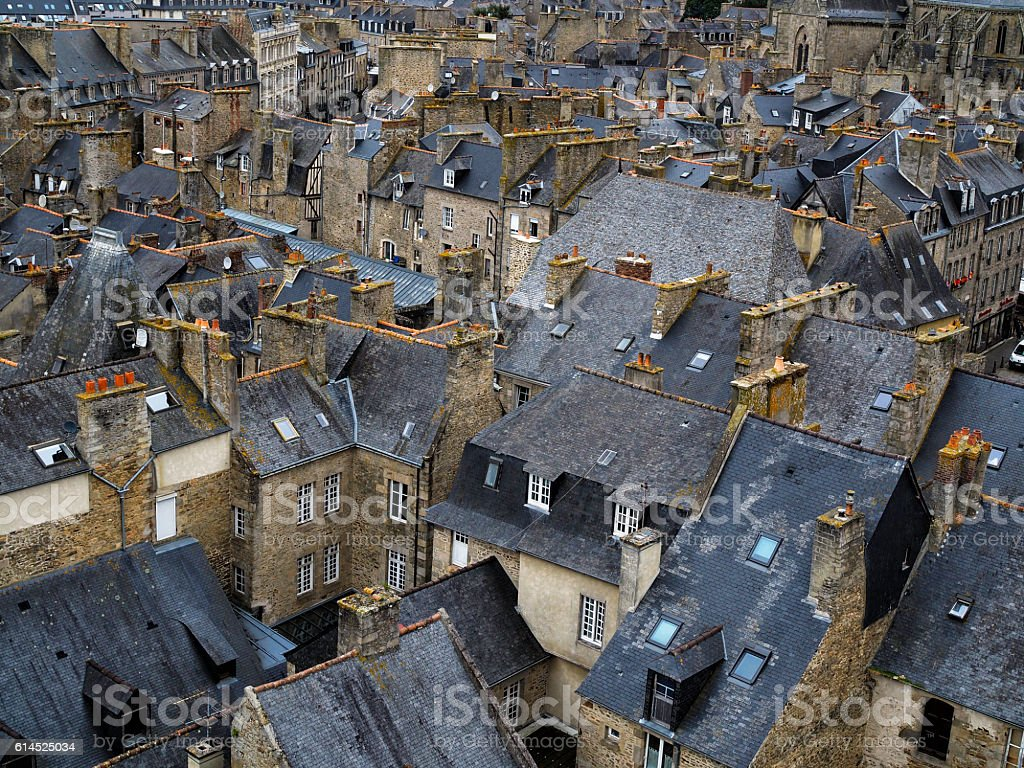 Medieval Dinan, France stock photo