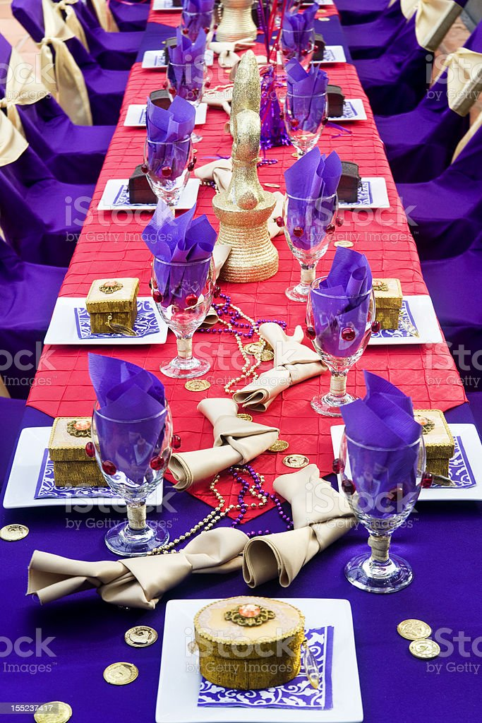 Medieval Dinner Table royalty-free stock photo