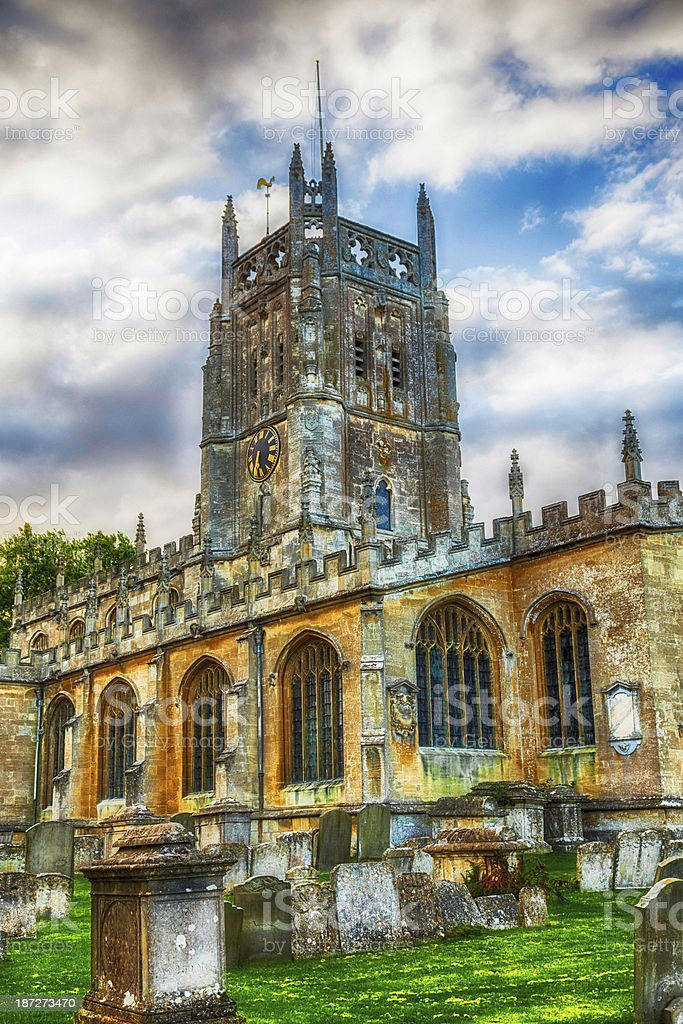 Medieval English Church stock photo