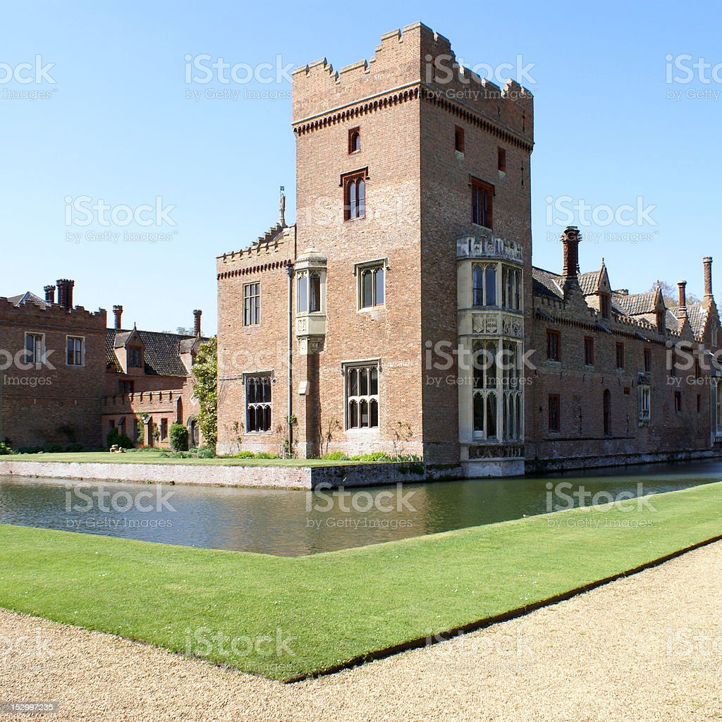 Medieval English country house stock photo