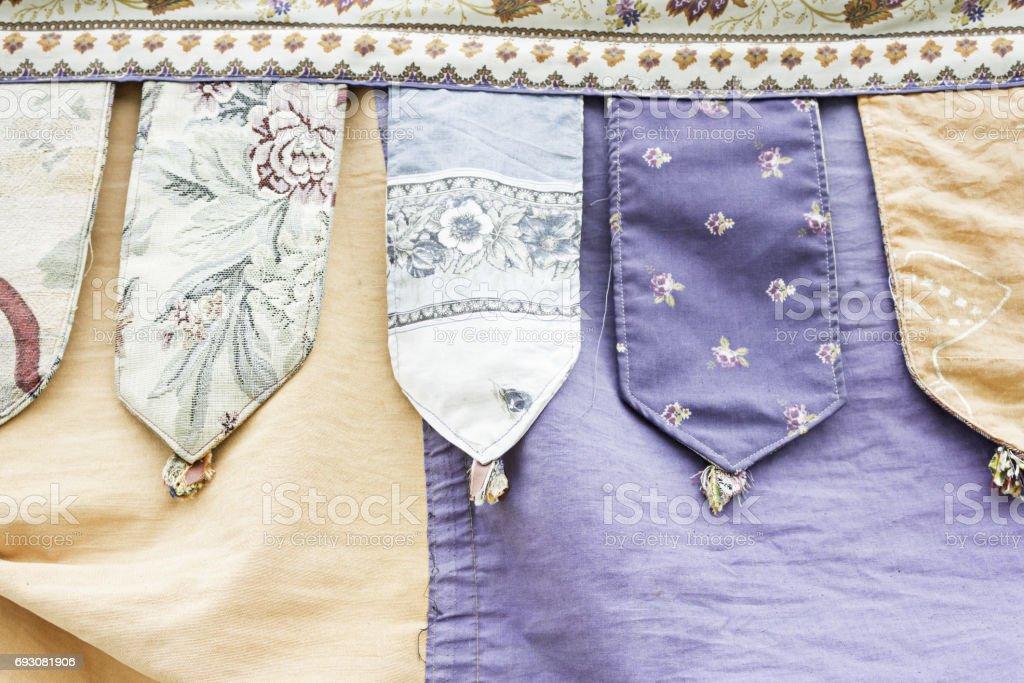 Medieval Fabrics stock photo
