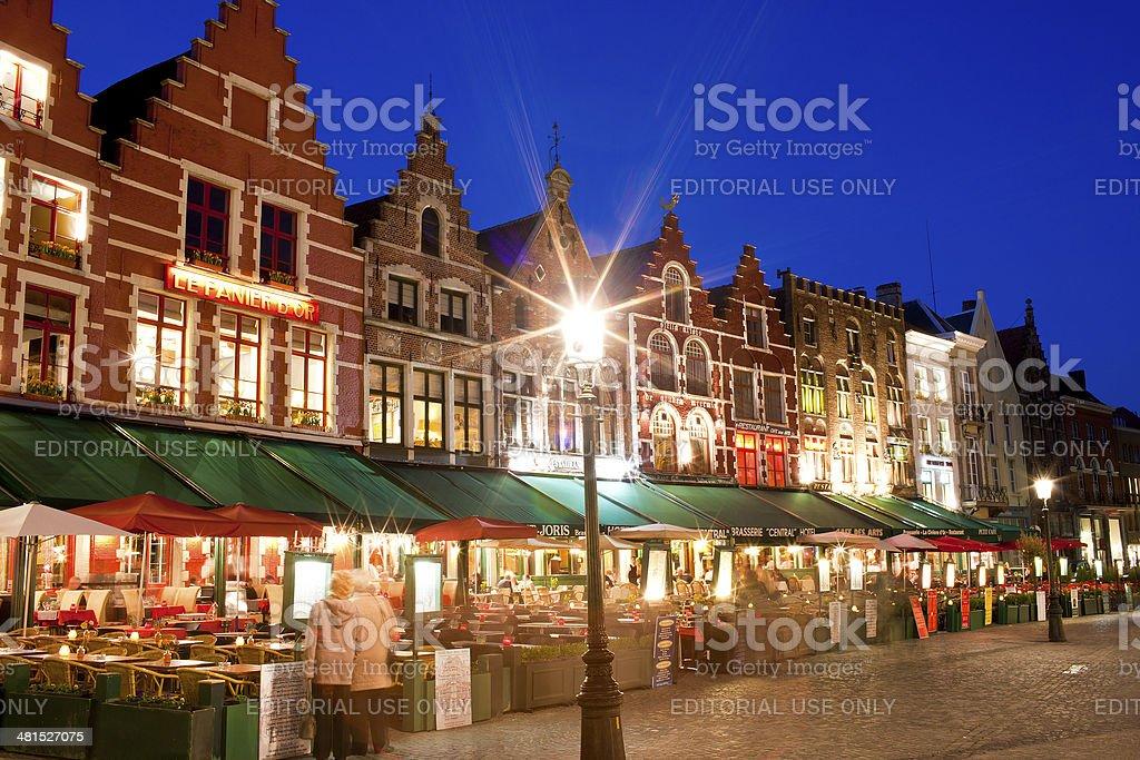 Medieval facades in Bruges, Belgium stock photo