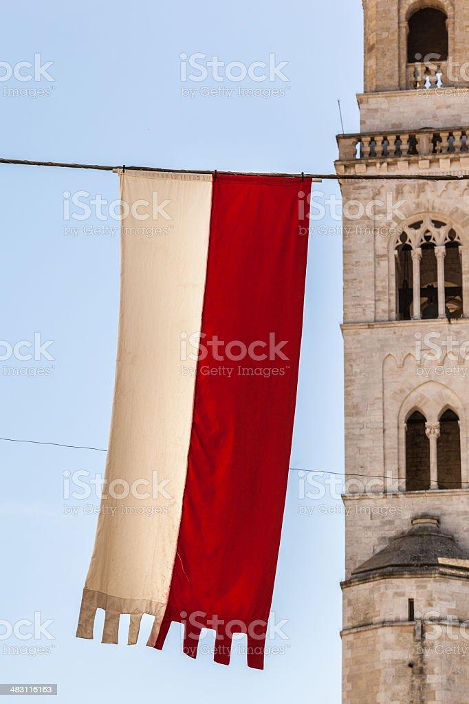 medieval flag stock photo