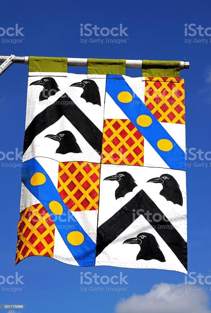 Medieval flag. stock photo