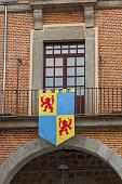 medieval flag window