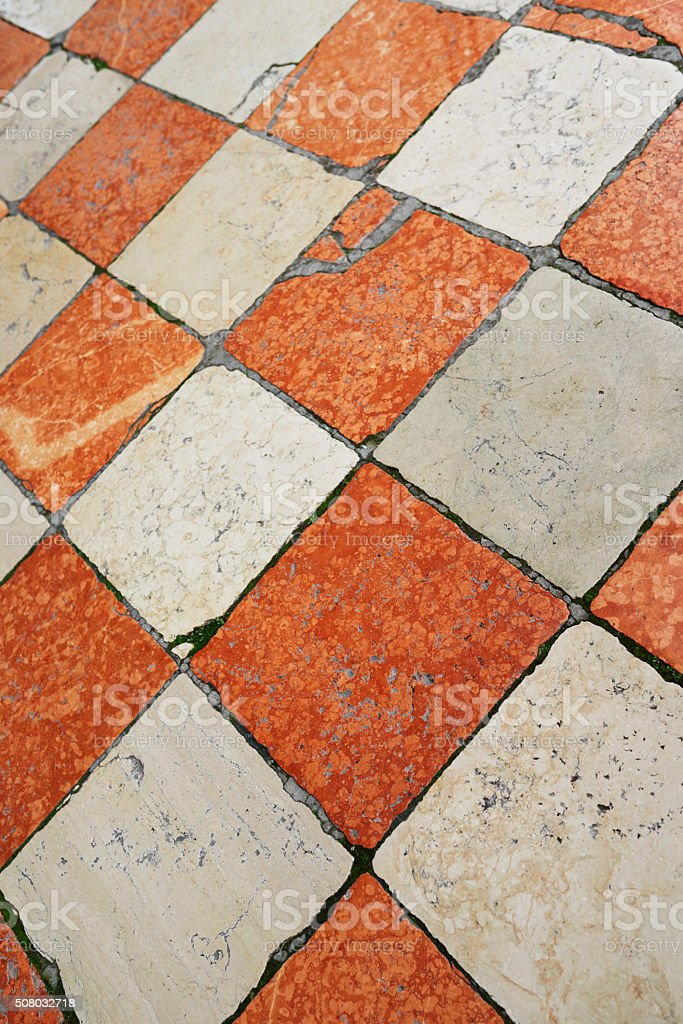 Medieval Floor in Venice stock photo