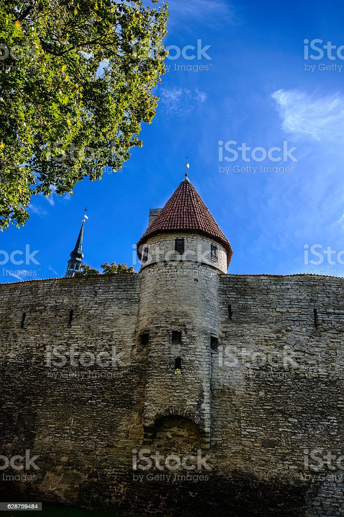 Medieval Fortifications, Tallinn, Estonia stock photo