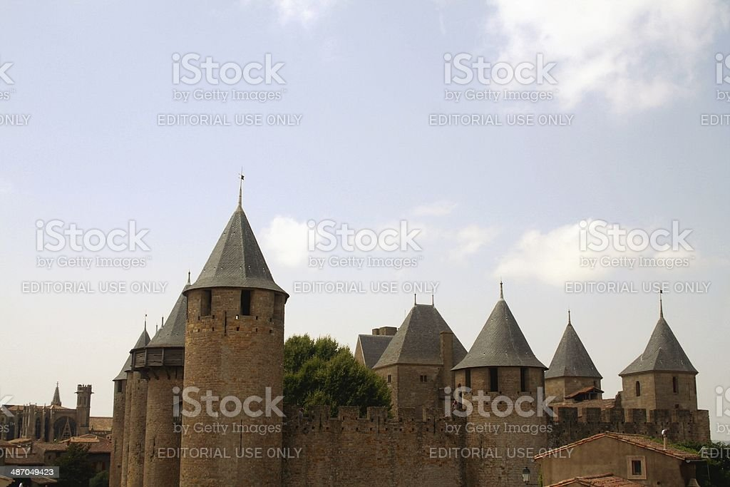 Medieval fortified citadel Carcassonne France stock photo
