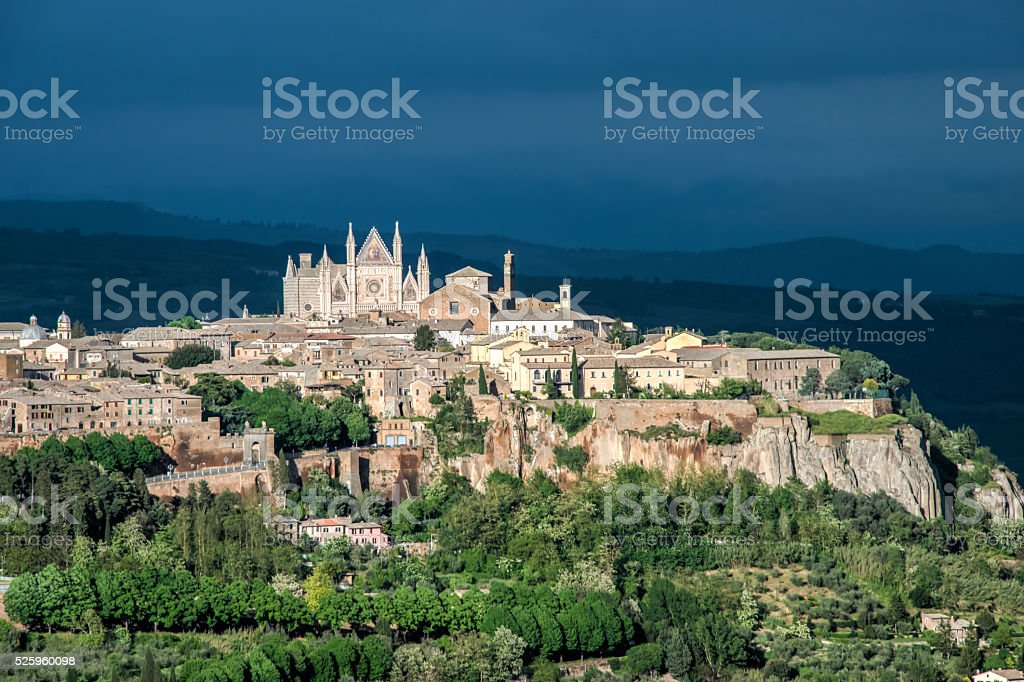 Medieval fortified town of Orvieto, Umbria, Italy, Europe stock photo