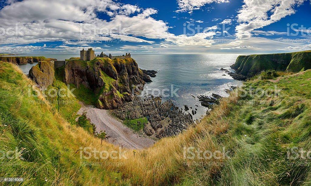 Medieval fortress Dunnottar Castle (Aberdeenshire, Scotland) stock photo