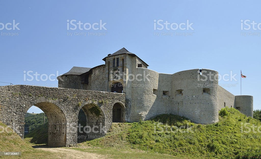 Medieval fortress in the Pays Basque royalty-free stock photo