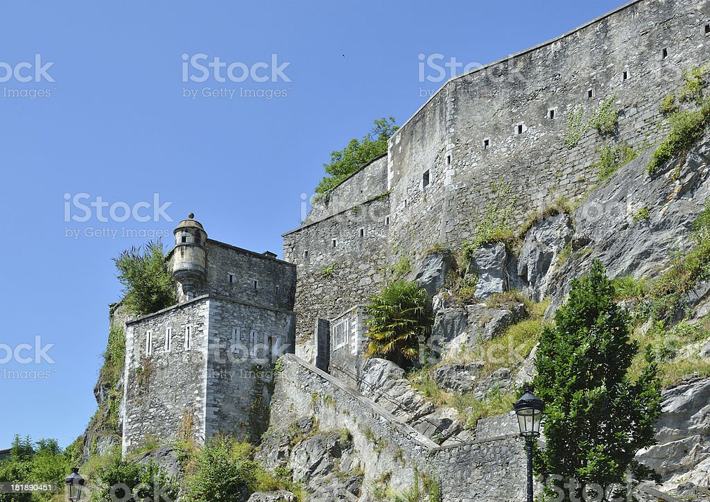 Medieval fortress on the rock royalty-free stock photo