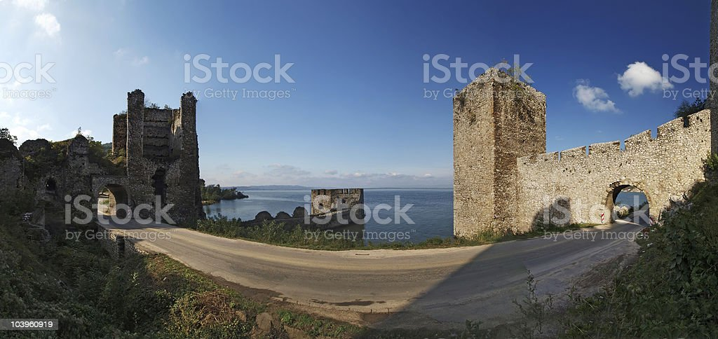 medieval Fortress  panorama royalty-free stock photo